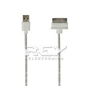 Cable USB a DOCK iPhone iPad iPod Cargador y Datos Color Blanco