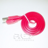 "Cable iPhone iPad iPod LIGHTNING CARGADOR Y DATOS ""USB"" ROJO"