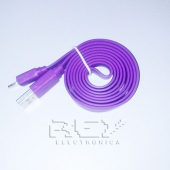 "Cable iPhone iPad iPod LIGHTNING CARGADOR Y DATOS ""USB"" LILA"