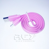 "Cable iPhone iPad iPod LIGHTNING CARGADOR Y DATOS ""USB"" ROSA"