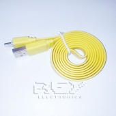 "Cable iPhone iPad iPod LIGHTNING CARGADOR Y DATOS ""USB"" AMARILLO"
