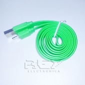 "Cable iPhone iPad iPod LIGHTNING CARGADOR Y DATOS ""USB"" VERDE"