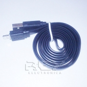 "Cable iPhone iPad iPod LIGHTNING CARGADOR Y DATOS ""USB"" NEGRO"
