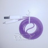 "Cable iPhone iPad iPod LIGHTNING CARGADOR Y DATOS ""USB"",Lila"