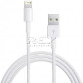 "Cable iPhone iPad iPod LIGHTNING CARGADOR Y DATOS ""USB"" Blanco"
