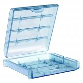 Caja Almacenado Blister Plástico Estuche Azul para Pilas AA