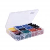 Cajar tubos termoretractil varios medidas y cinco colores 560 p.