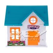 Casa de Muñecas Verde Naranja Juguete Niños