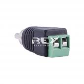 Conector de RCA Macho para CCTV adaptador rapido 2 conexiones HE