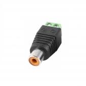 Conector de RCA Hembra para CCTV adaptador rapido 2 conexiones H