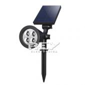 Foco Pared Solar 4 LED Pincho jardín  Impermeable