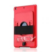Funda PIEL iPad 2 3 4 10.1 con Soporte Rotatorio Color ROJO