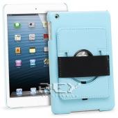 Funda Piel iPad 2 3 4 10.1 con Soporte Rotatorio Color AZUL