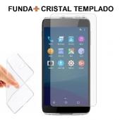 Funda + Protector ALCATEL ONE TOUCH IDOL 4 de Cristal Templado