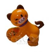 Gato Andador Pelota Color Naranja