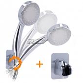 Manguera de Ducha Flexible+ Alcachofa Ducha LED Aleatoria 3c