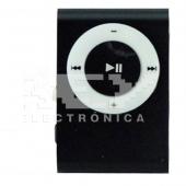 Mini Reproductor MP3 CLIP NEGRO Admite Tarjeta MicroSD Hasta 8Gb