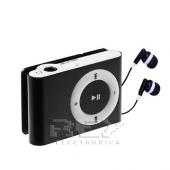 Mini Reproductor MP3 CLIP NEGRO Hasta 8GB MicroSD + Auricular