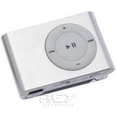 Mini Reproductor MP3 CLIP GRIS admite hasta 8GB Micro SD