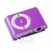 Mini Reproductor MP3 CLIP LILA admite hasta 8GB Micro SD
