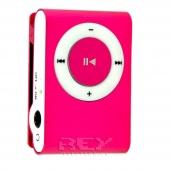 Mini Reproductor MP3 CLIP ROSA admite hasta 8GB Micro SD