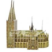 Puzzle 3D Catedral Colonia Juego Educativo Rompecabezas