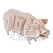 Puzzle 3D Cerdo Madera Juego Educativo Rompecabezas