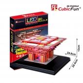 Puzzle 3D PABELLÓN DE CHINA LUCES LED CubicFun Rompecabezas 126