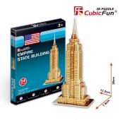 Puzzle 3D de EMPIRE STATE BUILDING CubicFun Rompecabezas 24 P.