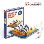 Puzzle 3D de LA ÓPERA DE SIDNEY CubicFun Rompecabezas 30 Piezas