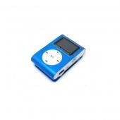 Reproductor MP3 CLIP Pantalla LCD radio FM AZUL