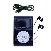 Reproductor MP3 CLIP Pantalla LCD radio FM NEGRO + Auricular