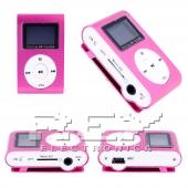 Reproductor MP3 CLIP Pantalla LCD radio FM ROSA