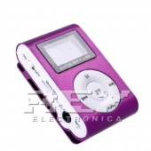 Reproductor MP3 CLIP Pantalla LCD radio FM MORADO