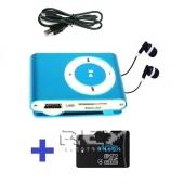 Reproductor Mp3 LCD AZUL + USB + Auricular + Micro SD 4 Gb