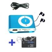 Reproductor Mp3 LCD AZUL + USB + Auricular + Micro SD 8 Gb