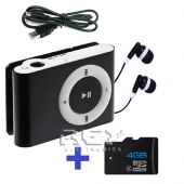 Reproductor Mp3 LCD NEGRO + USB + Auricular + Micro SD 4 Gb
