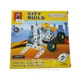 Toro Mecánico Amarillo Construcción,para Construir la Ciudad